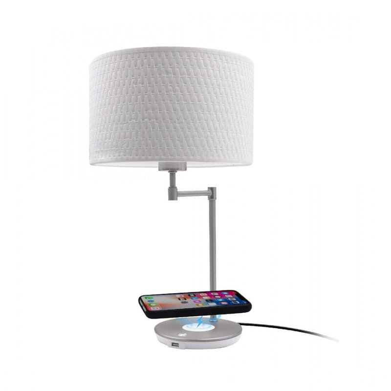 LED Table Lamp with Wireless Charging and USB Port