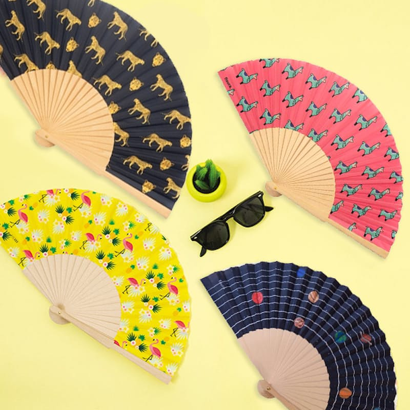 Printed Wooden Hand Fans