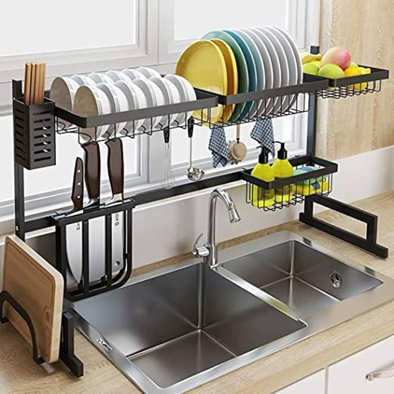 Adjustable Stainless Steel Over Sink Dish Drying Rack