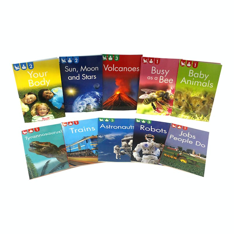 Children's Beginning to Read Level 1 - 3 Learning Books (10 Non-Fiction Books)