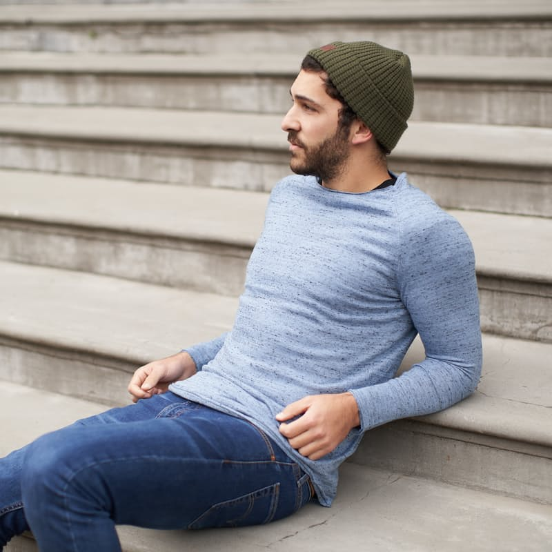 Men's Casual Low Hem Pullover