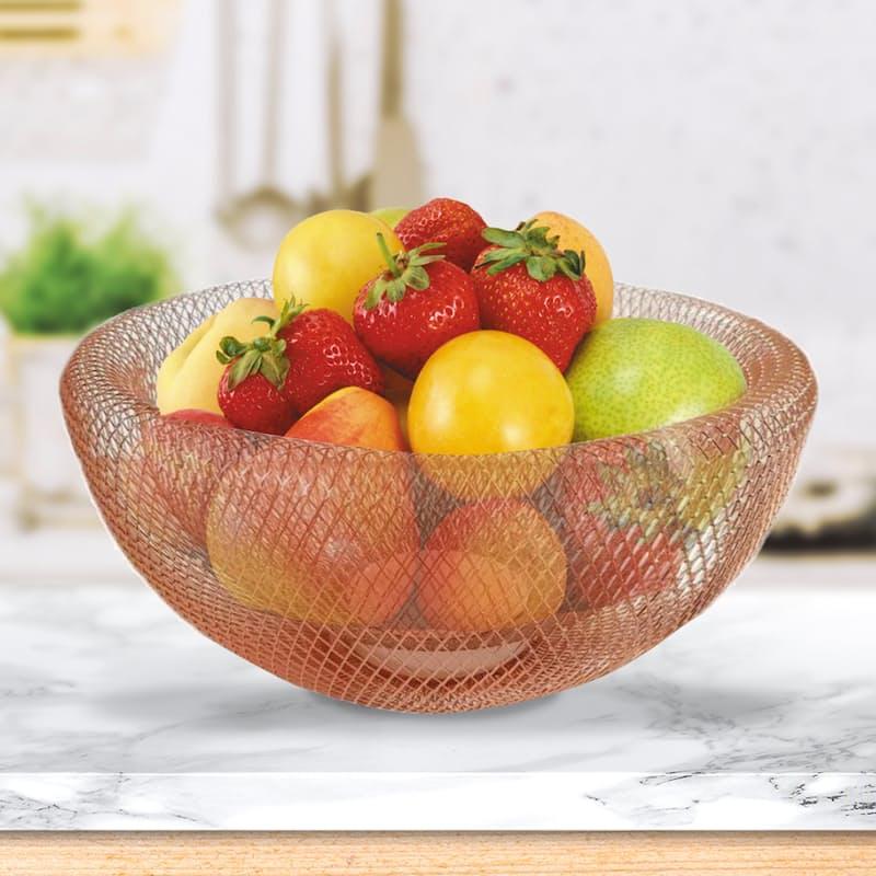 Rose Gold Wire Mesh Fruit Basket