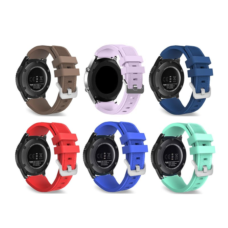 22mm Silicone Replacement Strap for Samsung S3 and 46mm Galaxy Watch