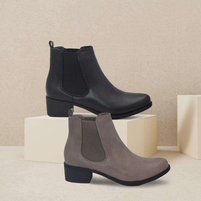 Ladies PU Ankle Boot