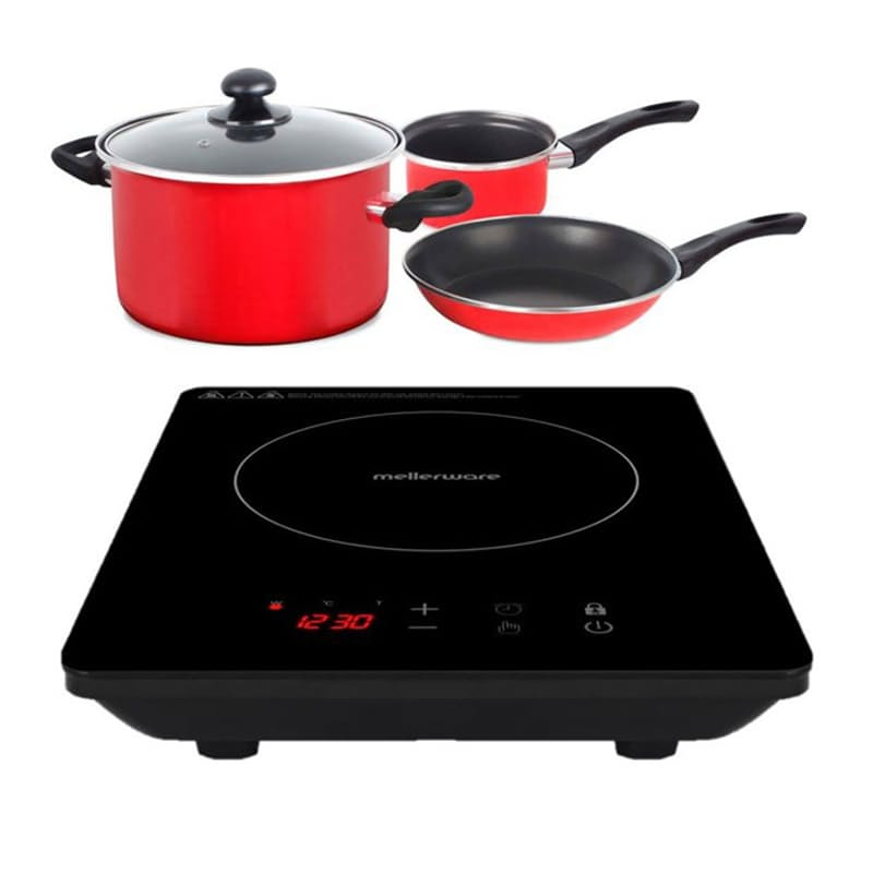"1800W 5 Piece ""Capri"" Induction Cooker And Pot Set"