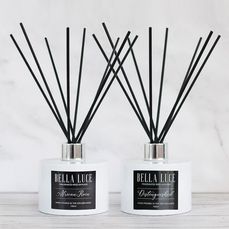 Pack of 2 x 100ml Luxury Fragranced Reed Diffusers