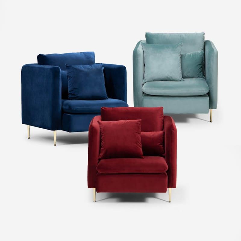 Modern Velvet Armchair