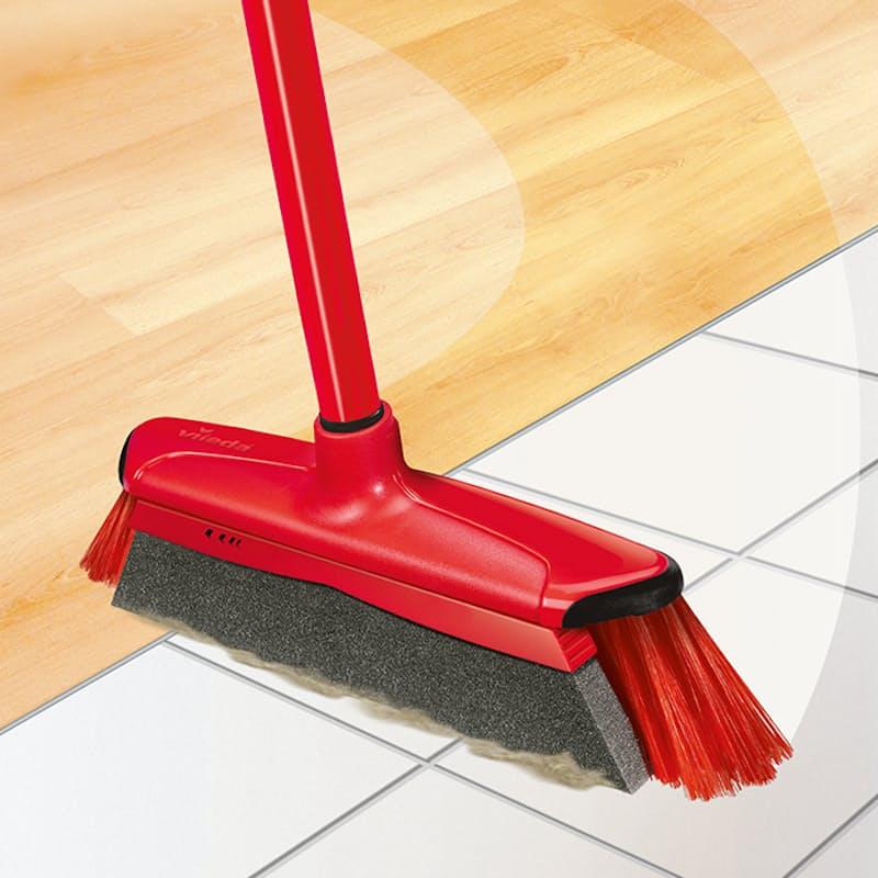 DuActiva Broom with Foam Strip & Dustpan