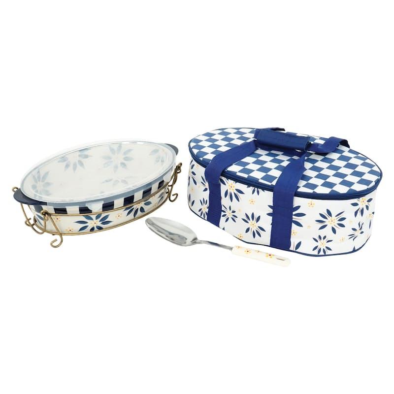 Old World 3 Quart Ceramic Casserole Dish