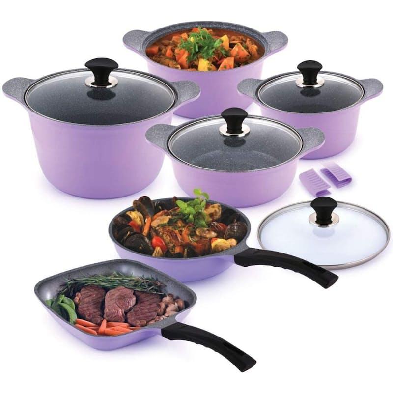 Lavender 11-Piece Cookware Set