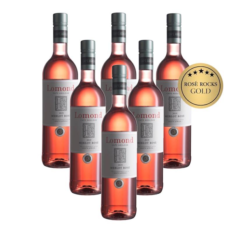 Merlot Rose 2019 (R79.83 Per Bottle, 6 Bottles)