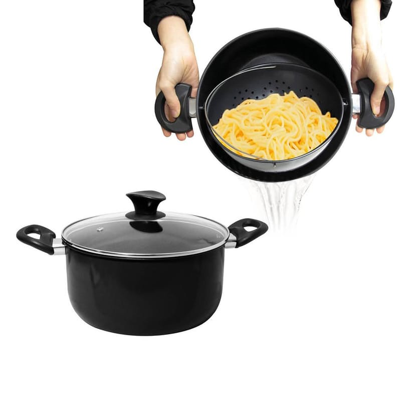 Cooking Pot™ With Built-In Strainer