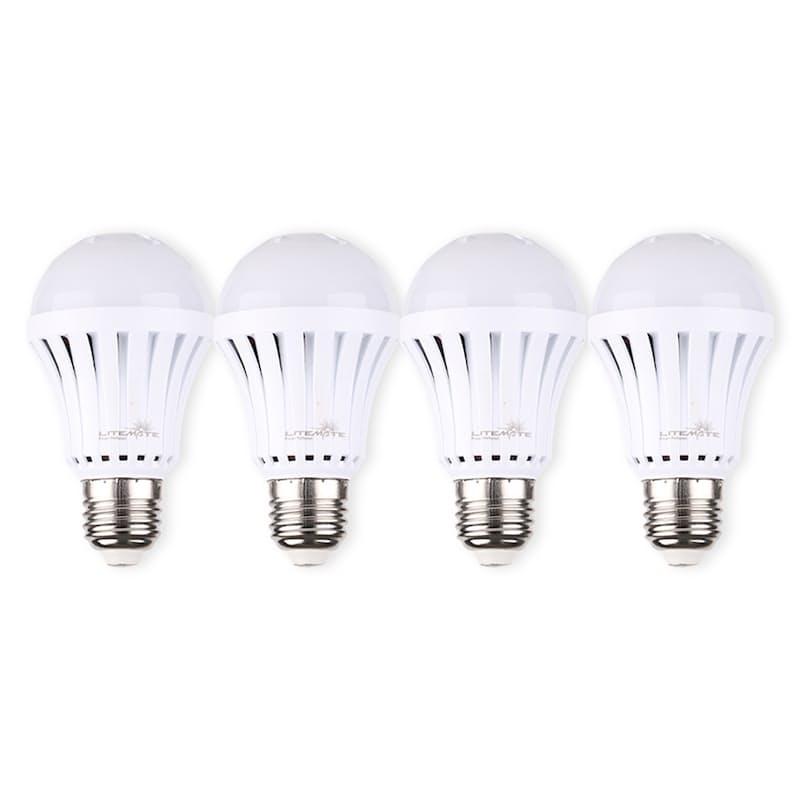 Pack of 4 5 Watt Rechargable A60 Cool Day Bulbs (E27 or B22)