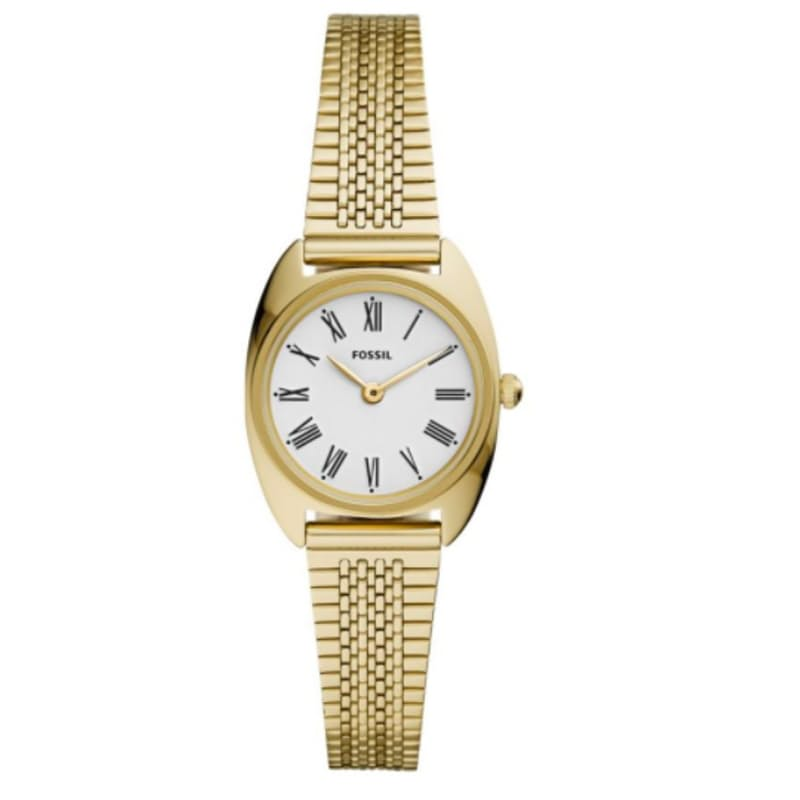Ladies Jude Mini Gold Barrel/North-South Stainless Steel Watch