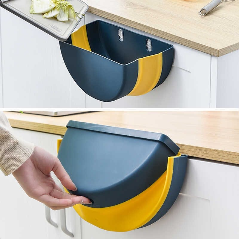 Universal Foldable Hanging Cabinet Trash Can