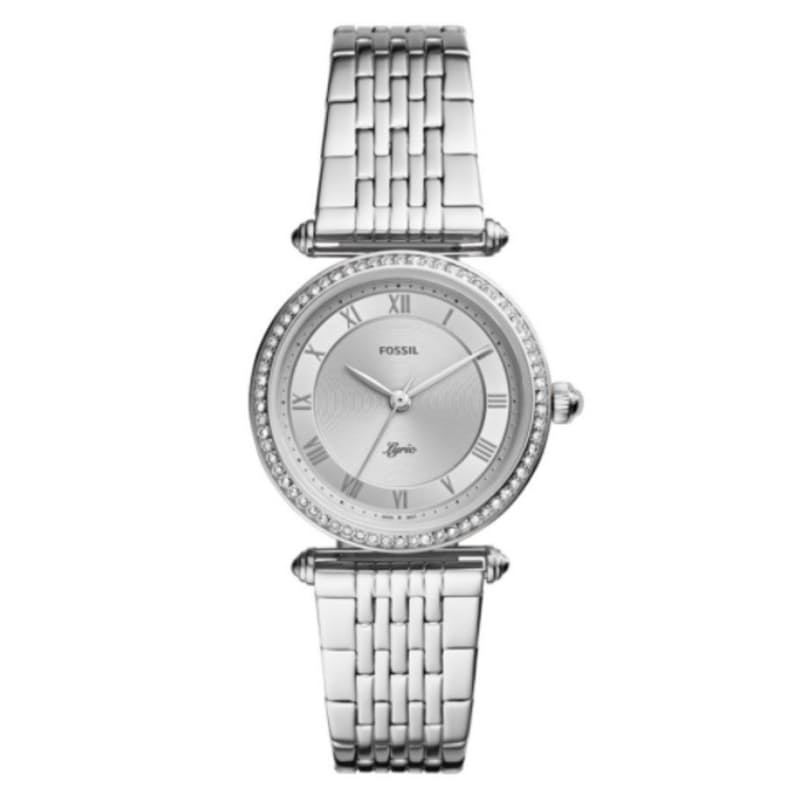 Women's Lyric Silver Round Stainless Steel Watch