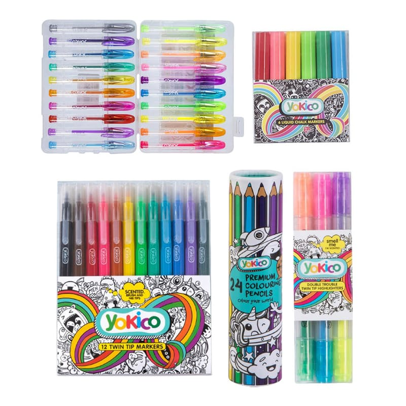 65 Piece Creative Colour Stationery Pack