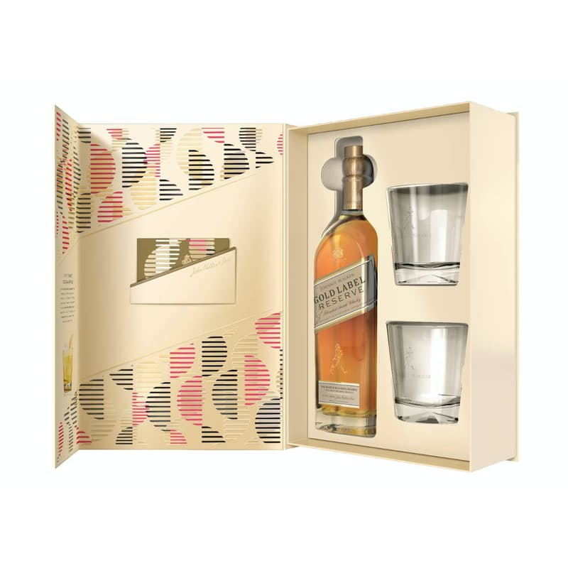 Gold Label Reserve Whisky with 2 Glasses Gift Set