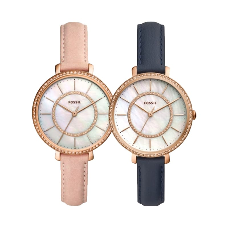Ladies Jocelyn Three-Hand Leather Watch