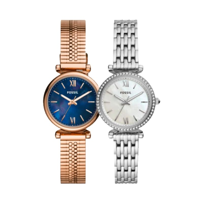 Ladies Carlie Mini Round Stainless Steel Watch