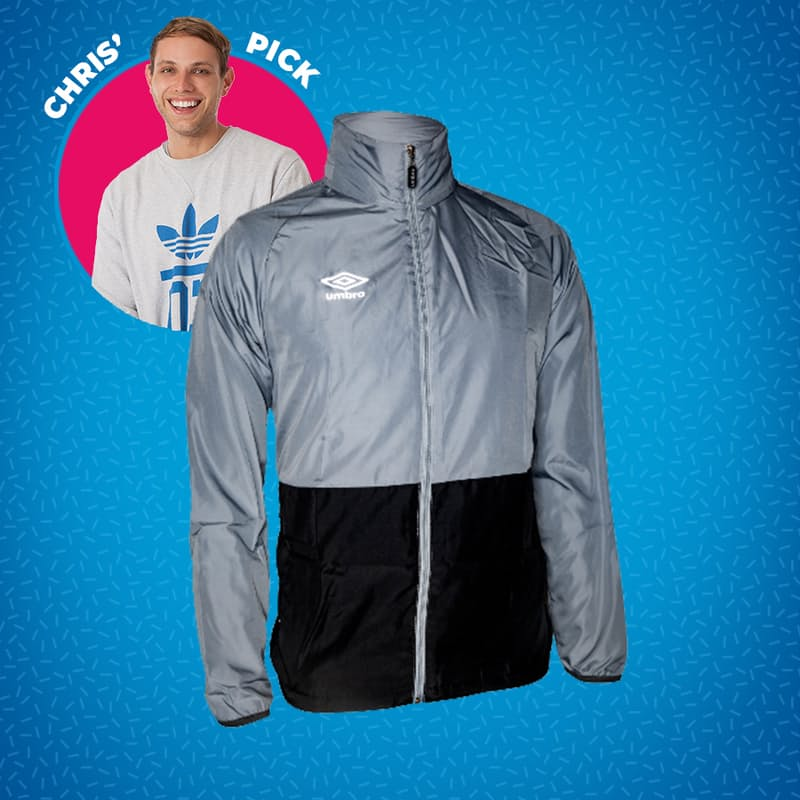 Men's or Youth's Two-Tone Training Shower Jacket with Hood