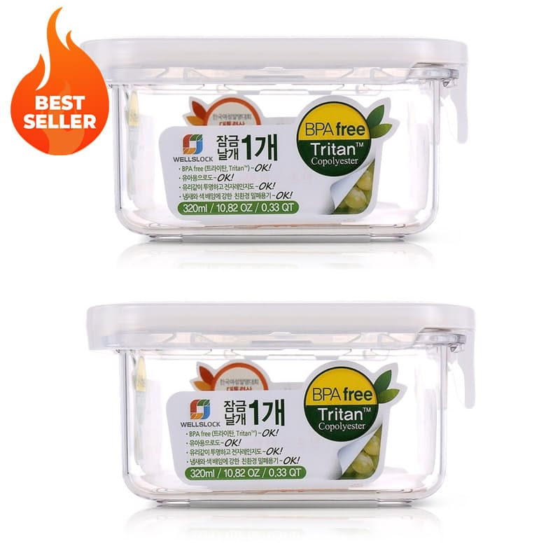 Pack of 2 Tritan Slide Tight BPA Free Food Storage