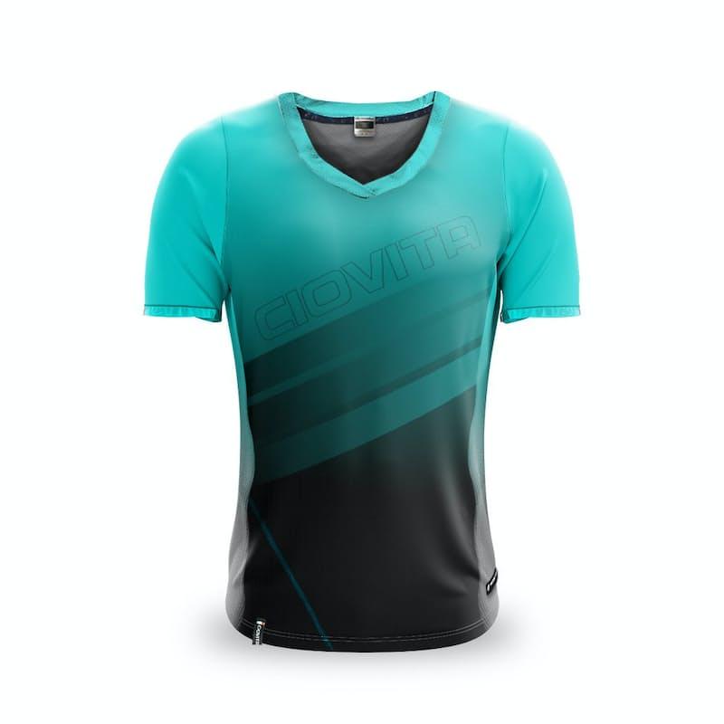 Men's or Ladies Men's Aqua Short Sleeve Trail Jersey
