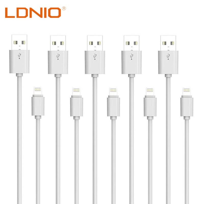 Pack of 5 2.1A Fast Charging USB to Lightning Cables (R29.80 Per Cable)