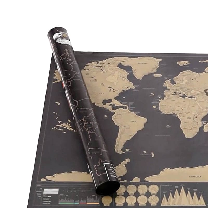 Deluxe Edition World Scratch Map (Damaged Packaging)
