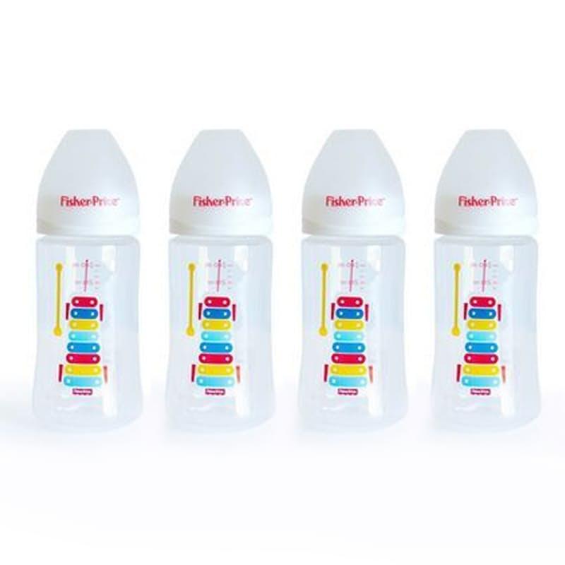 Set of 4 Anti-Colic Wideneck Baby Feeding Bottles