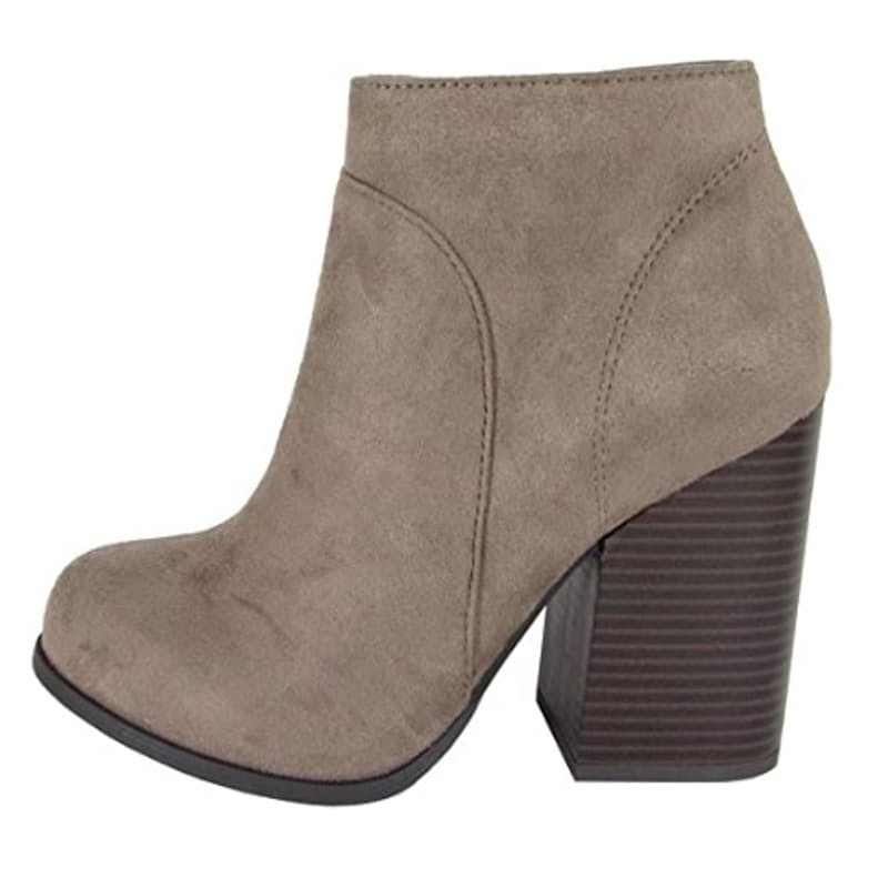 Ladies Faux Suede Ankle Boots