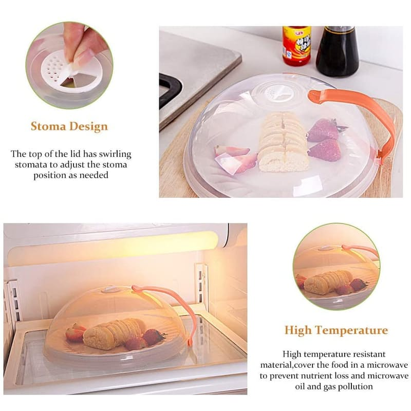 34 Off On Steam Heat Free Handle Microwave Cover