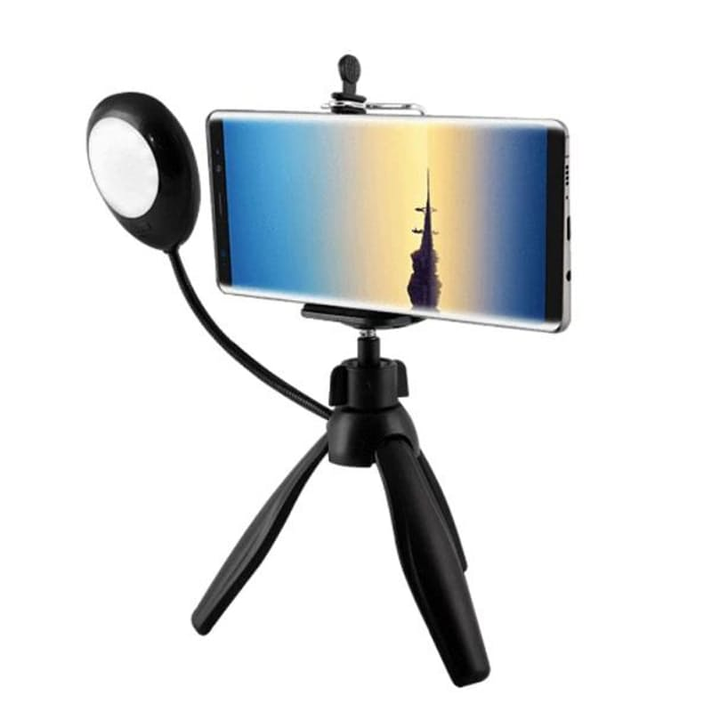 Mini Smartphone Adjustable Tripod with Selfie Lamp