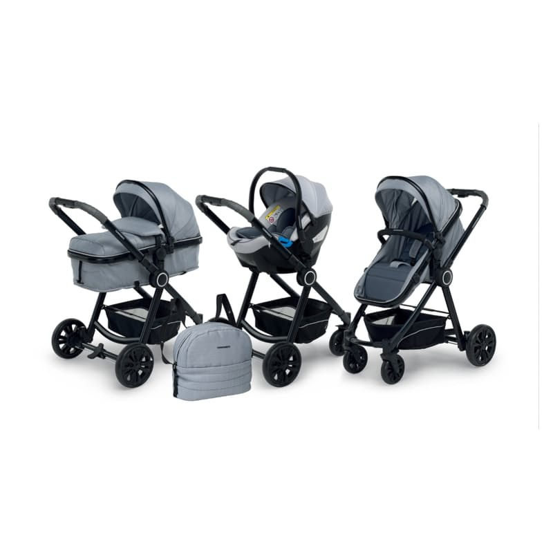 Bikini Plus Travel System (Carrycot, Stroller and Carseat)