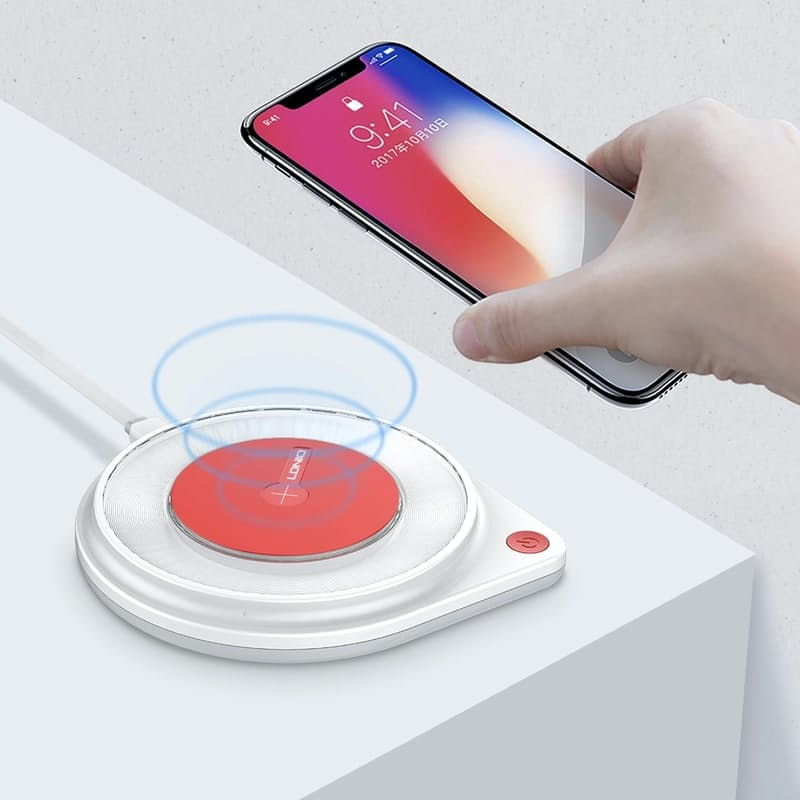 10W Fast Wireless Charger with LED Night Lamp (Model: AW001)