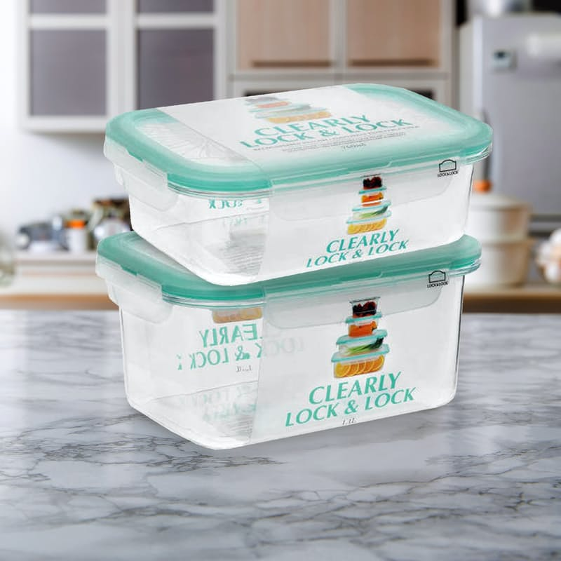 1.1L & 760ml Clearly Rectangle Food Containers