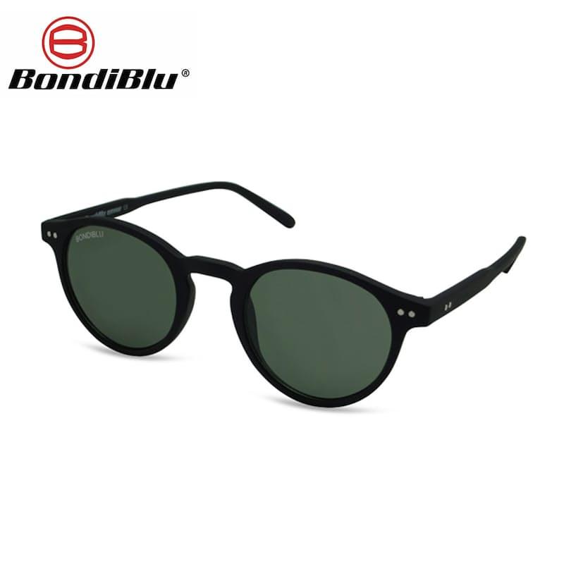 Black Unisex Nirvana Oval Sunglasses