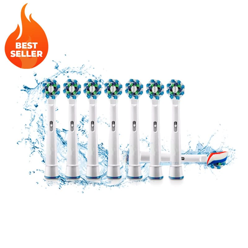 Pack of 8 Oral-B Compatible Electric Toothbrush Replacement Heads
