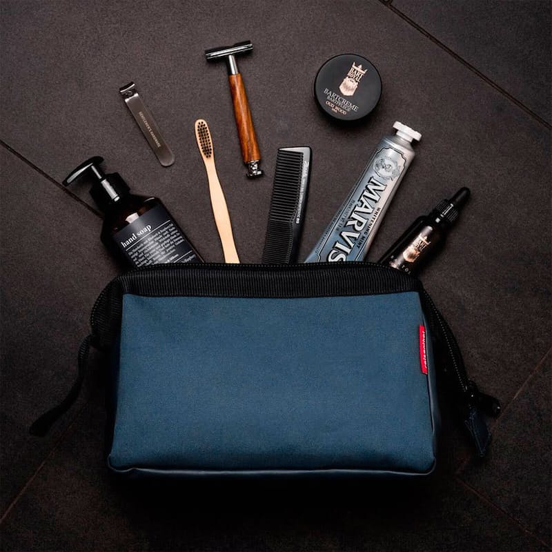 Canvas Toiletry Bag with Sturdy Metal Frame