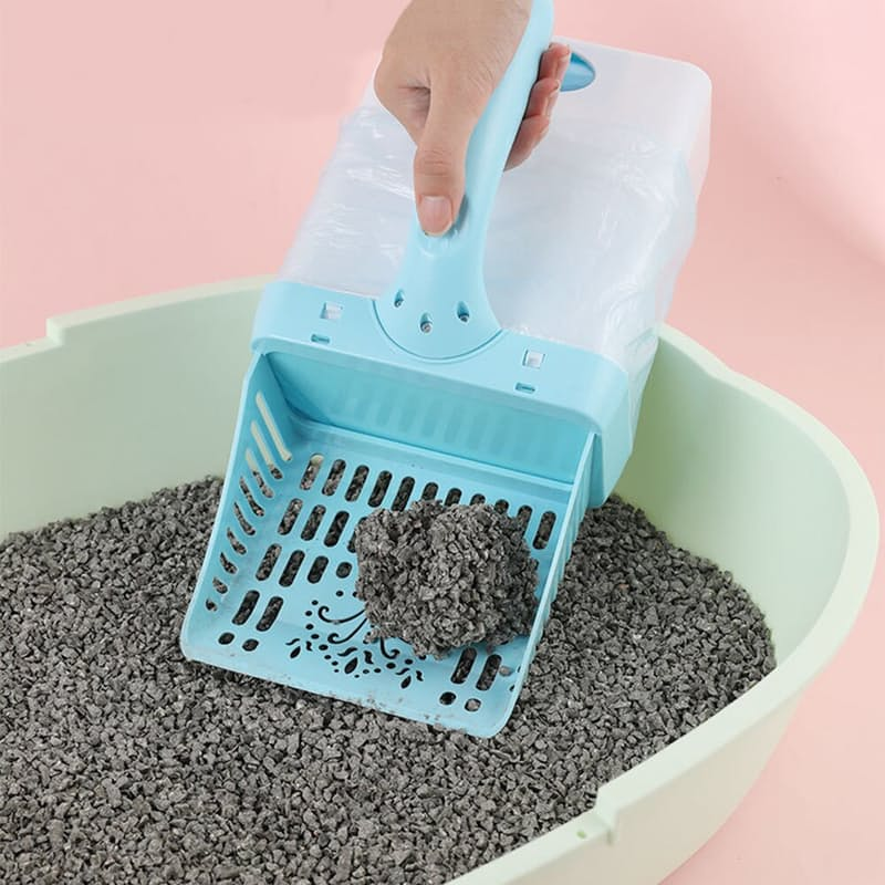 Grey Cat Integrated Litter Shovel