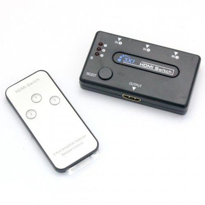 3-Port HDMI Switch HUB with Remote Control