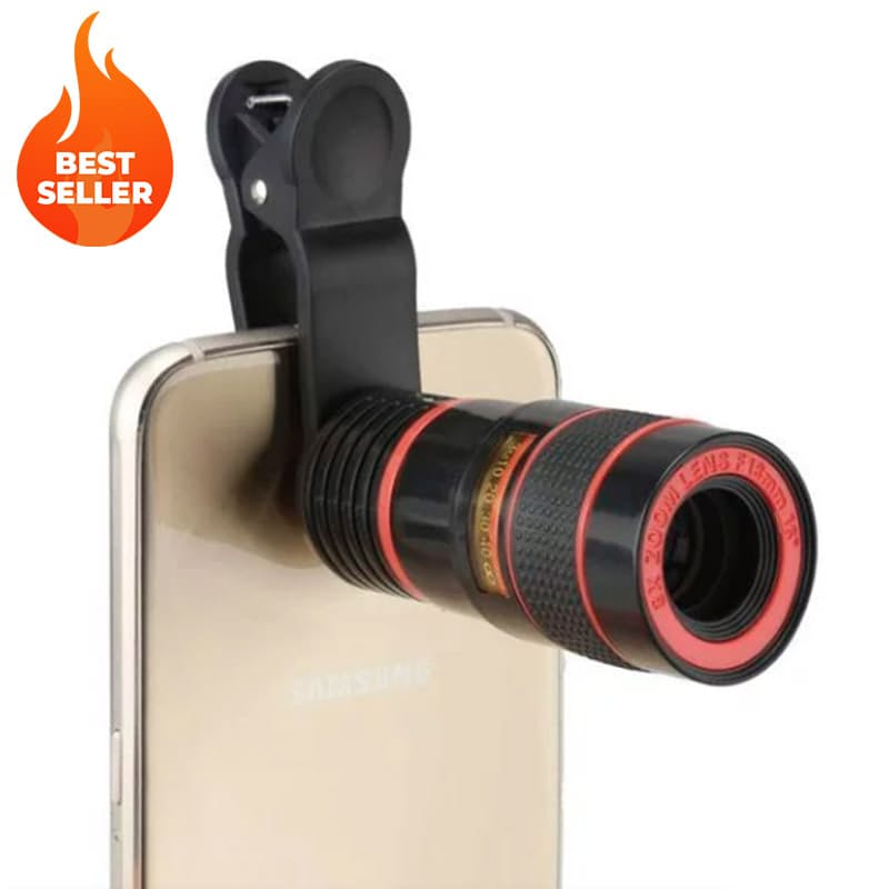 8X Zoom Telescope Camera Lens with Clip for Smartphone & Tablets