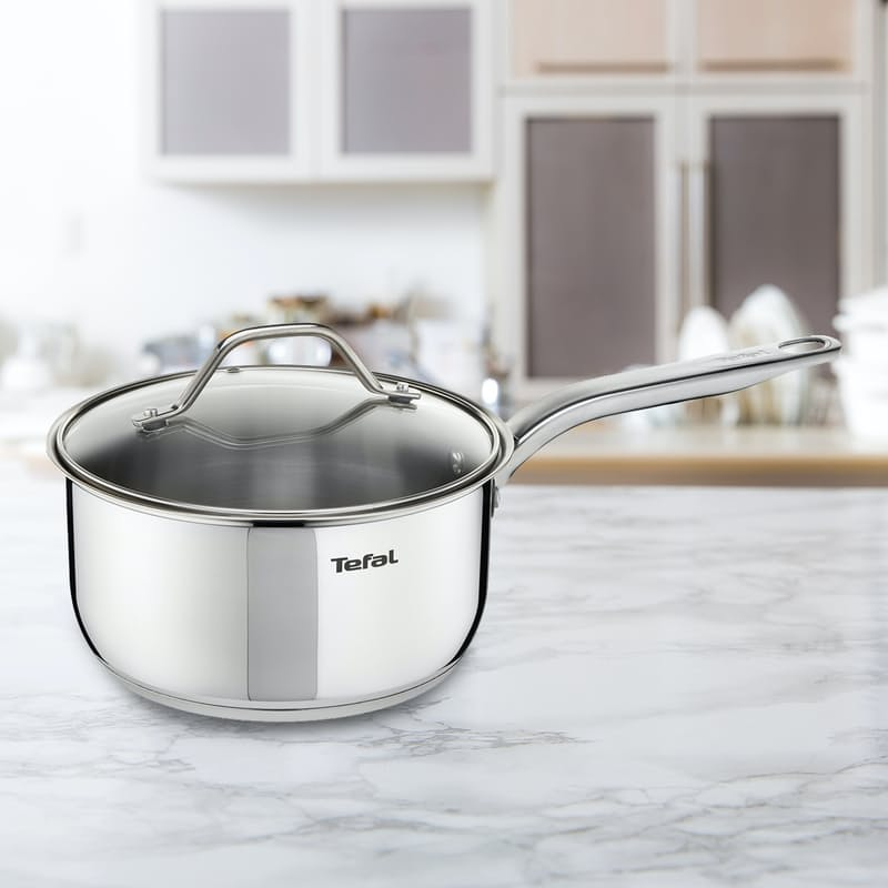 Intuition Uncoated 18cm Saucepan with Lid