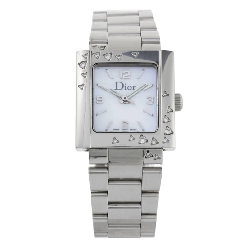 Ladies 24.5mm Riva Diamond Sparkling Steel Watch