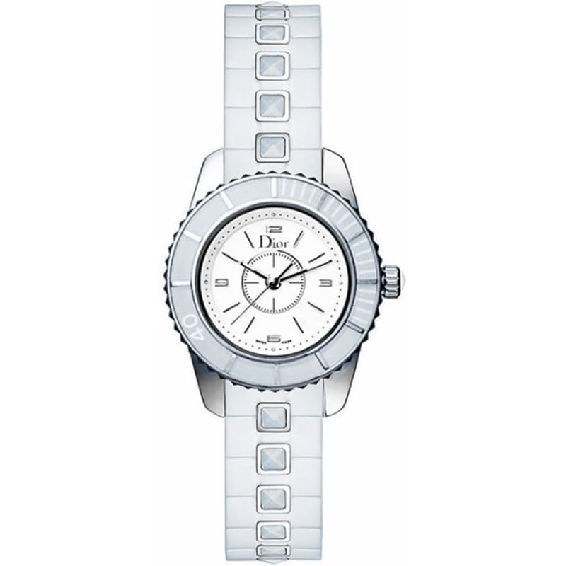 Ladies 28mm Christal Watch with White Sapphire Bracelet