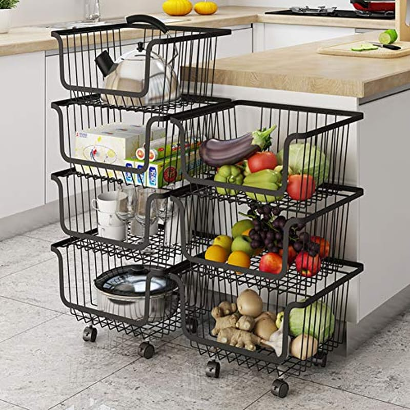 3 Tier Multi-Purpose Storage Baskets on Wheels