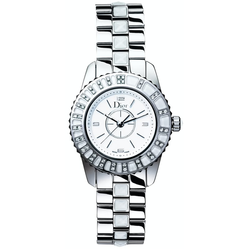 Ladies 28mm Christal Watch with Diamond Bezel