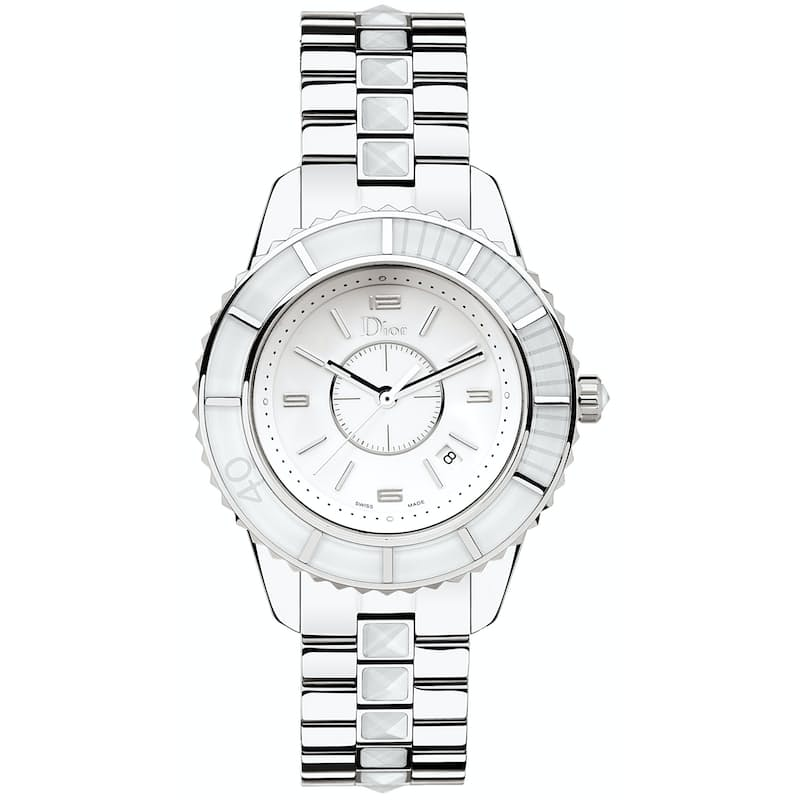 Ladies 33mm Quartz Crystal White Dial Watch