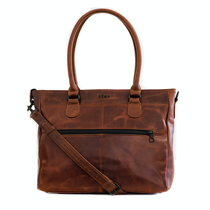"13"" Genuine Leather Casablanca Tote"