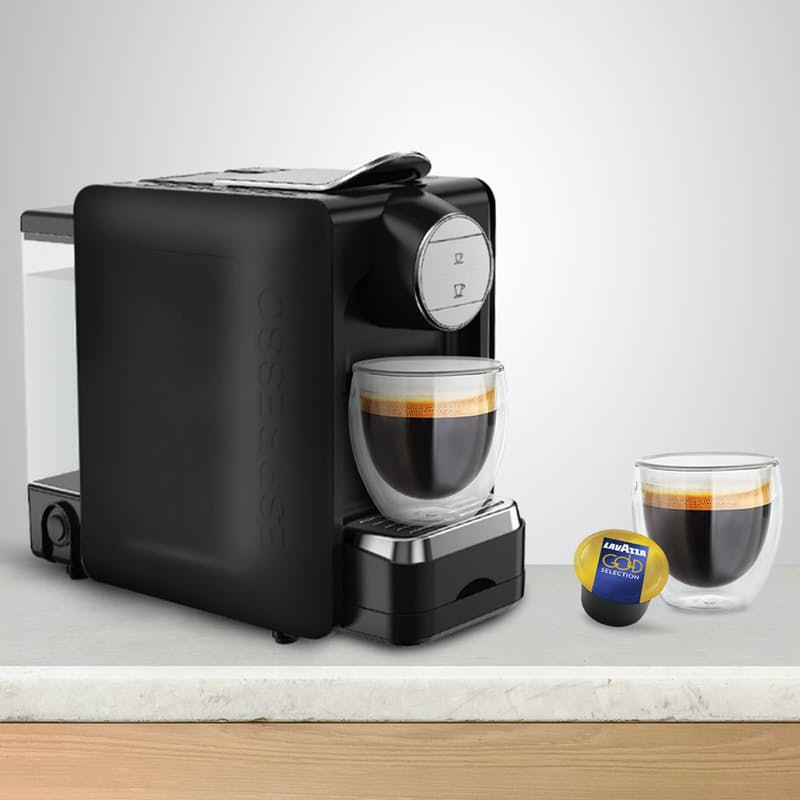Lavazza BLUE Espresso Capsule Machine with 100 Lavazza BLUE Gold Selection Coffee Capsules